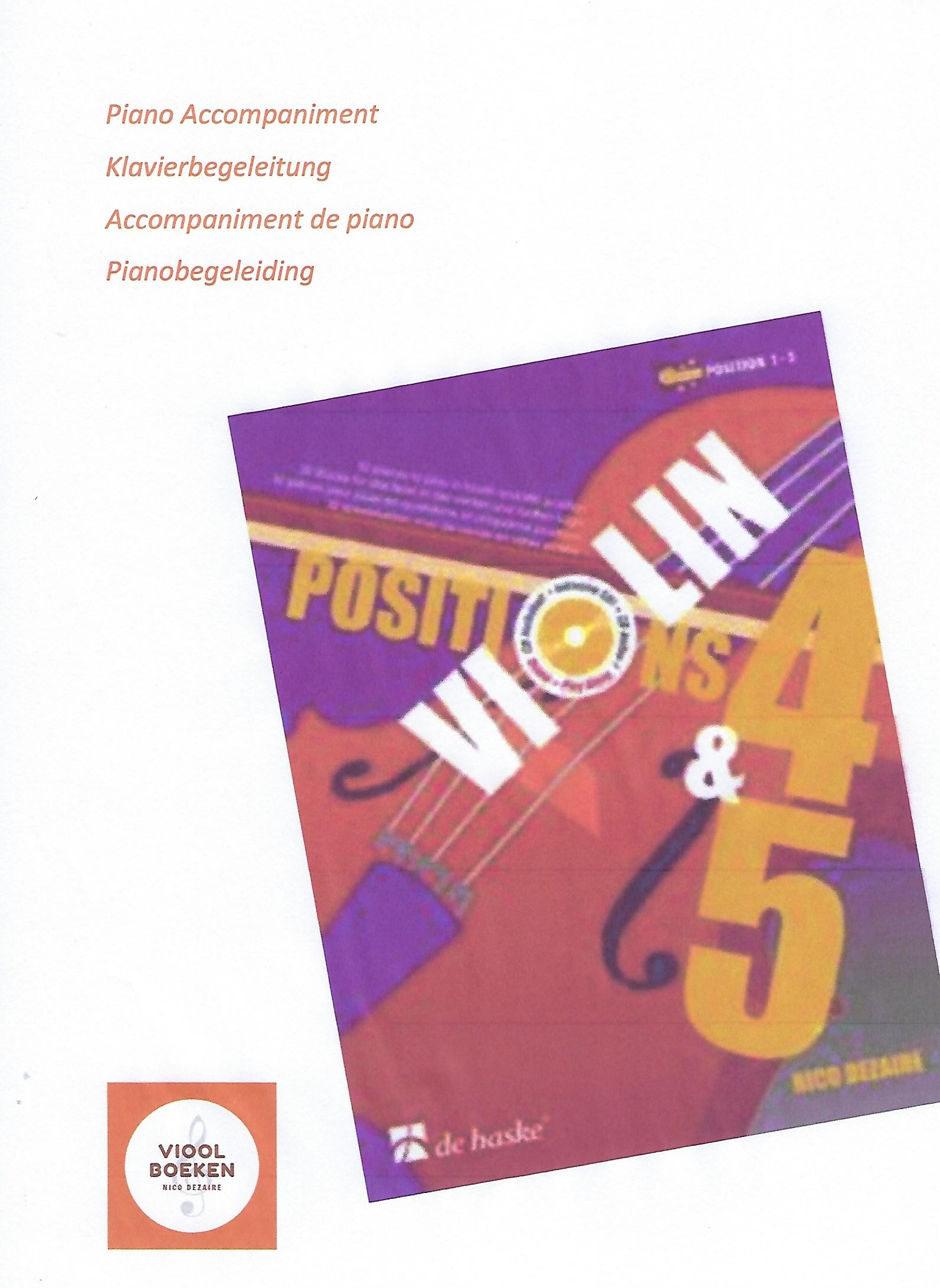 Violin Positions 4 & 5 Piano Accompaniment (e-book)