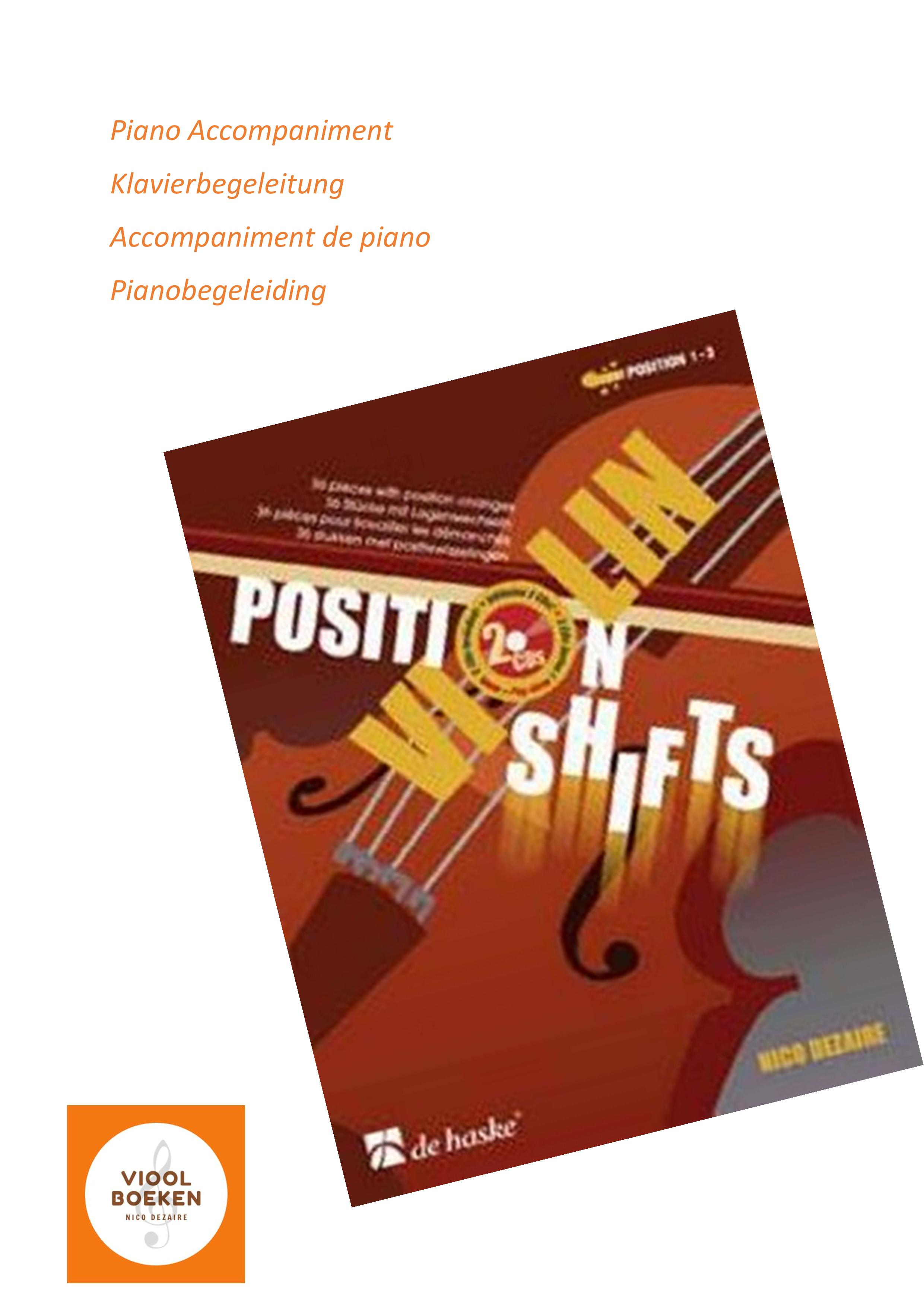 Violin Position Shifts Piano Accompaniment (e-book)