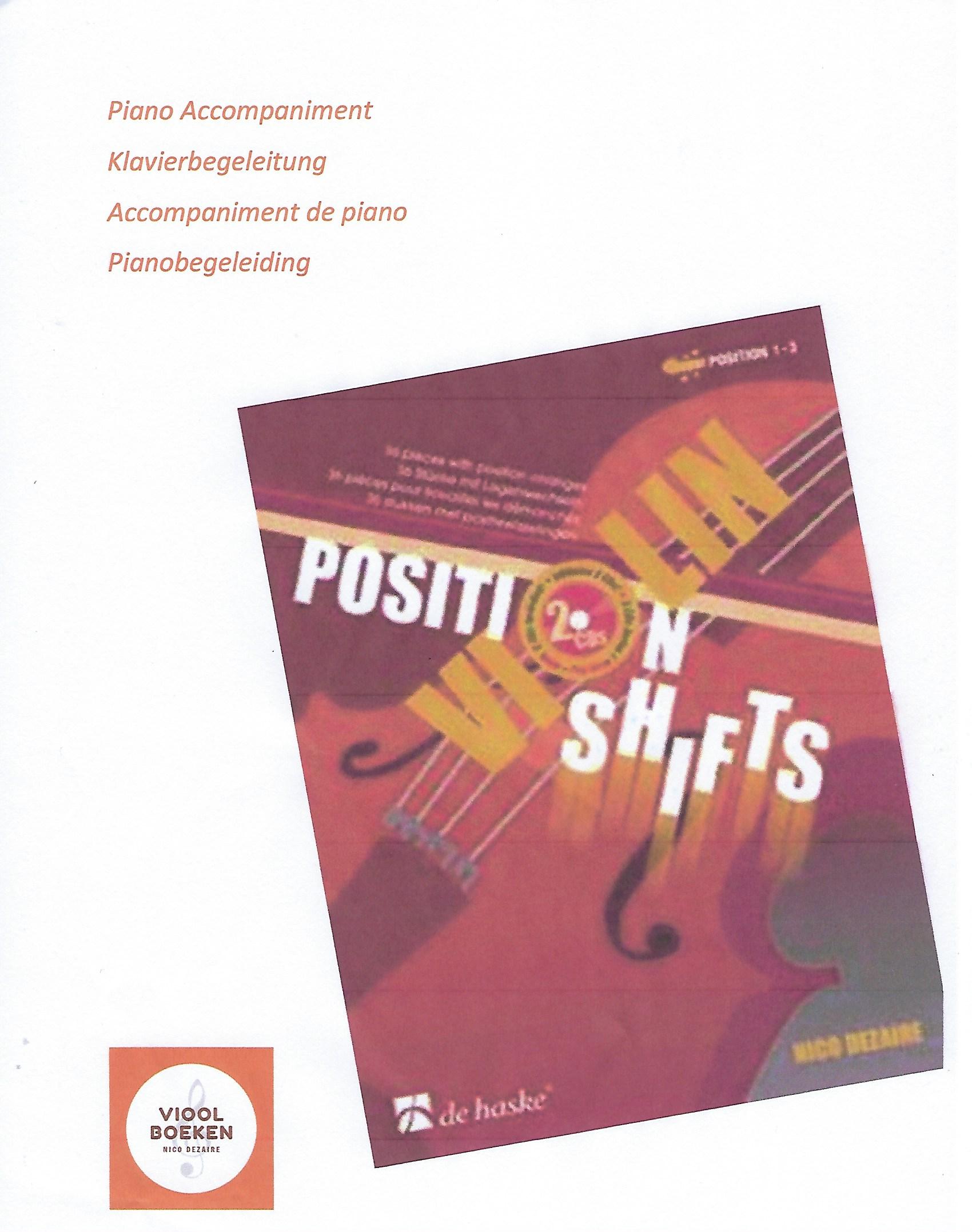 Violin Position Shifts Piano Accompaniment (e-book)