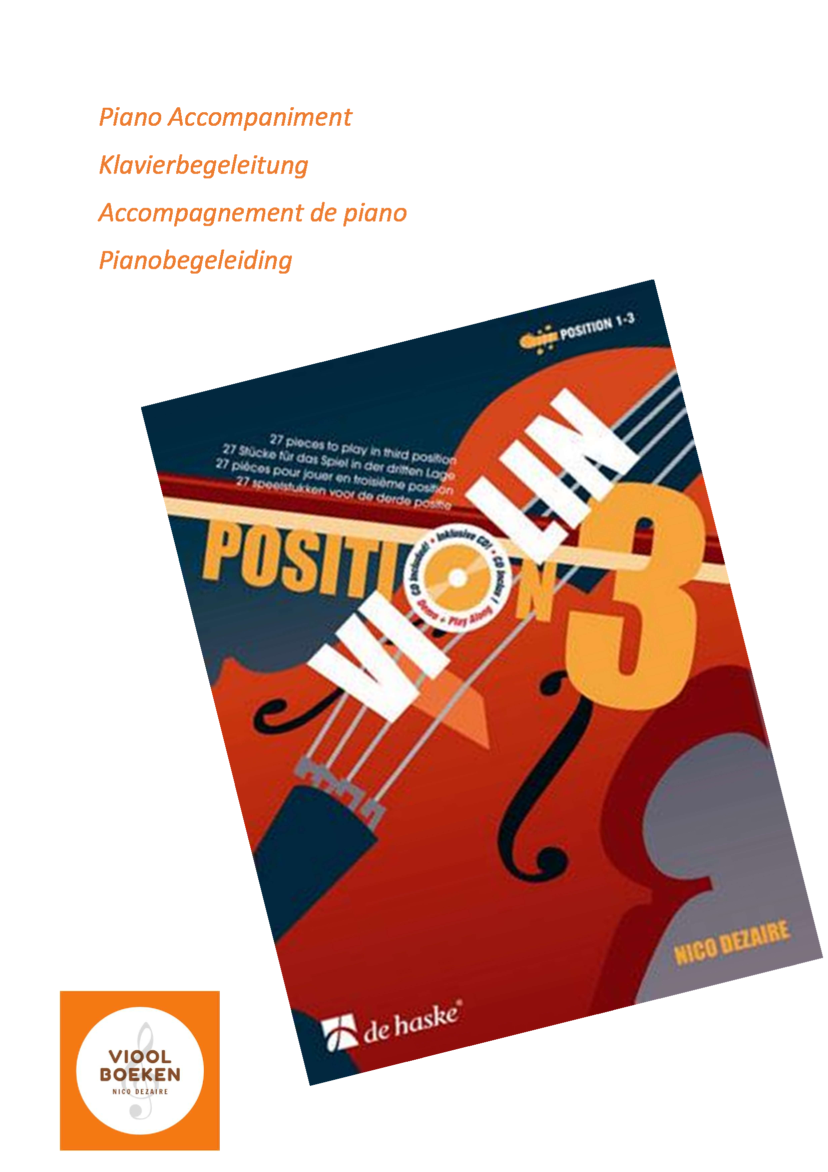 Violin Position 3 Piano Accompaniment (e-book)