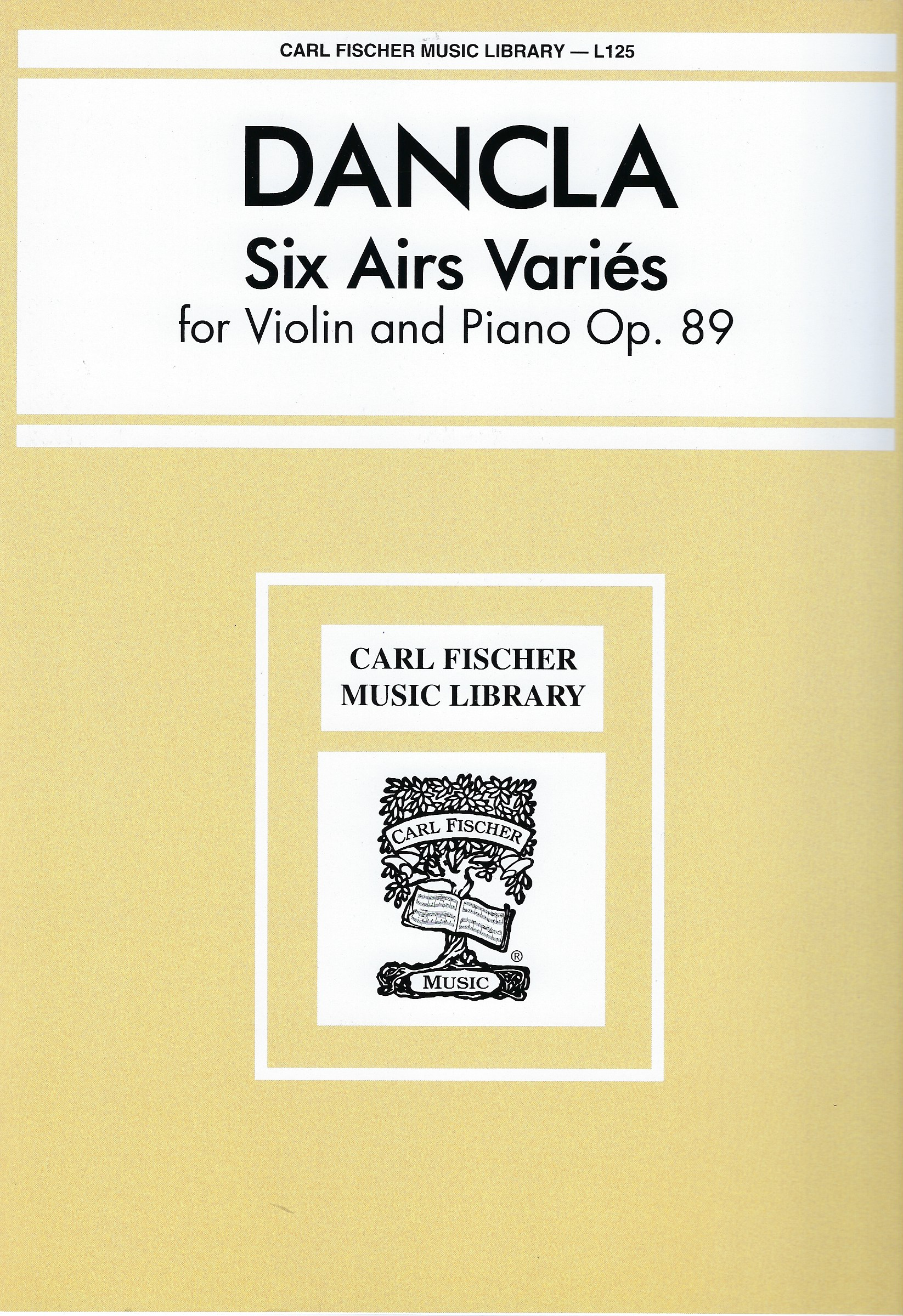 Six Airs Variés op.89