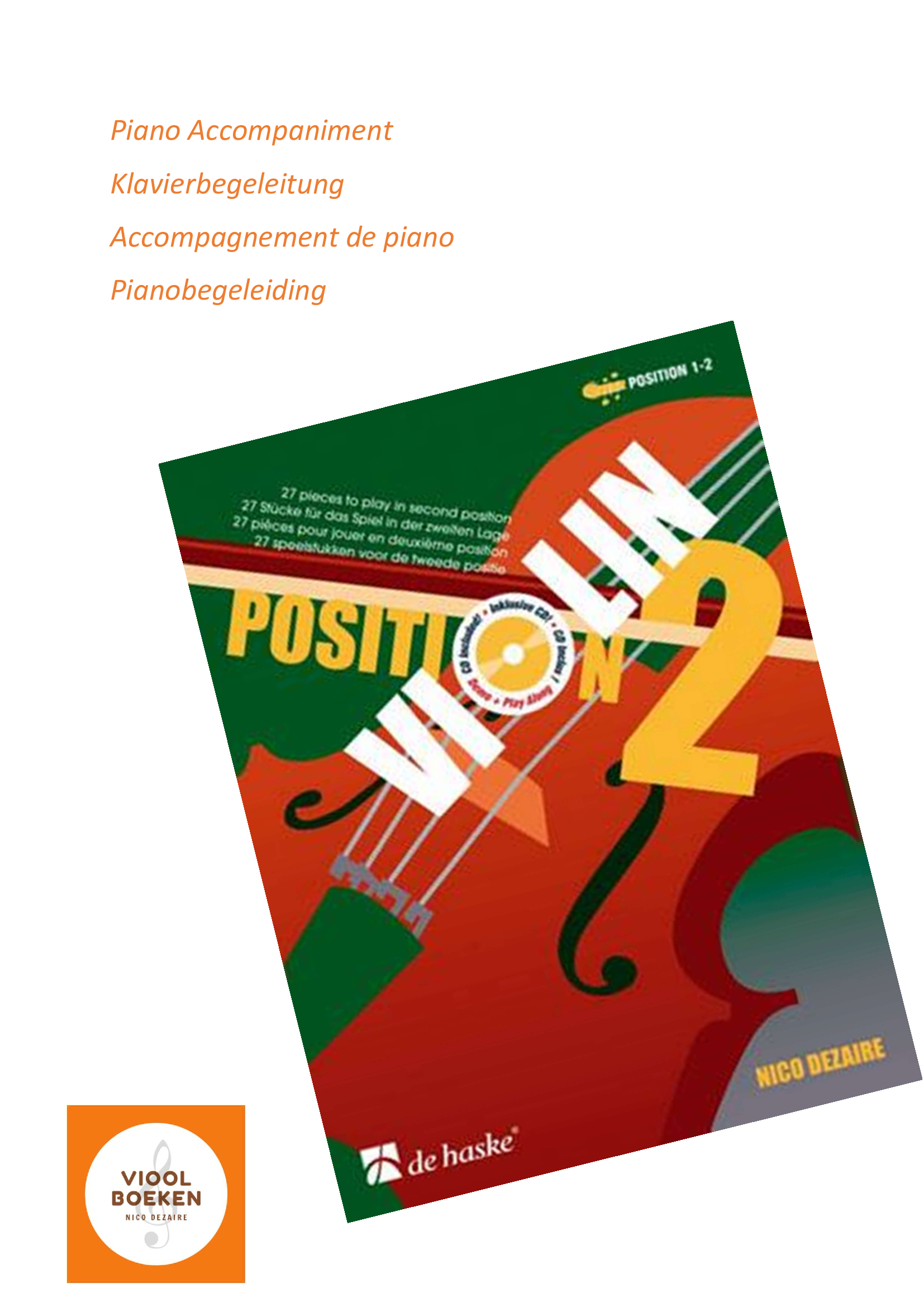 Violin Position 2 Piano Accompaniment (e-book)