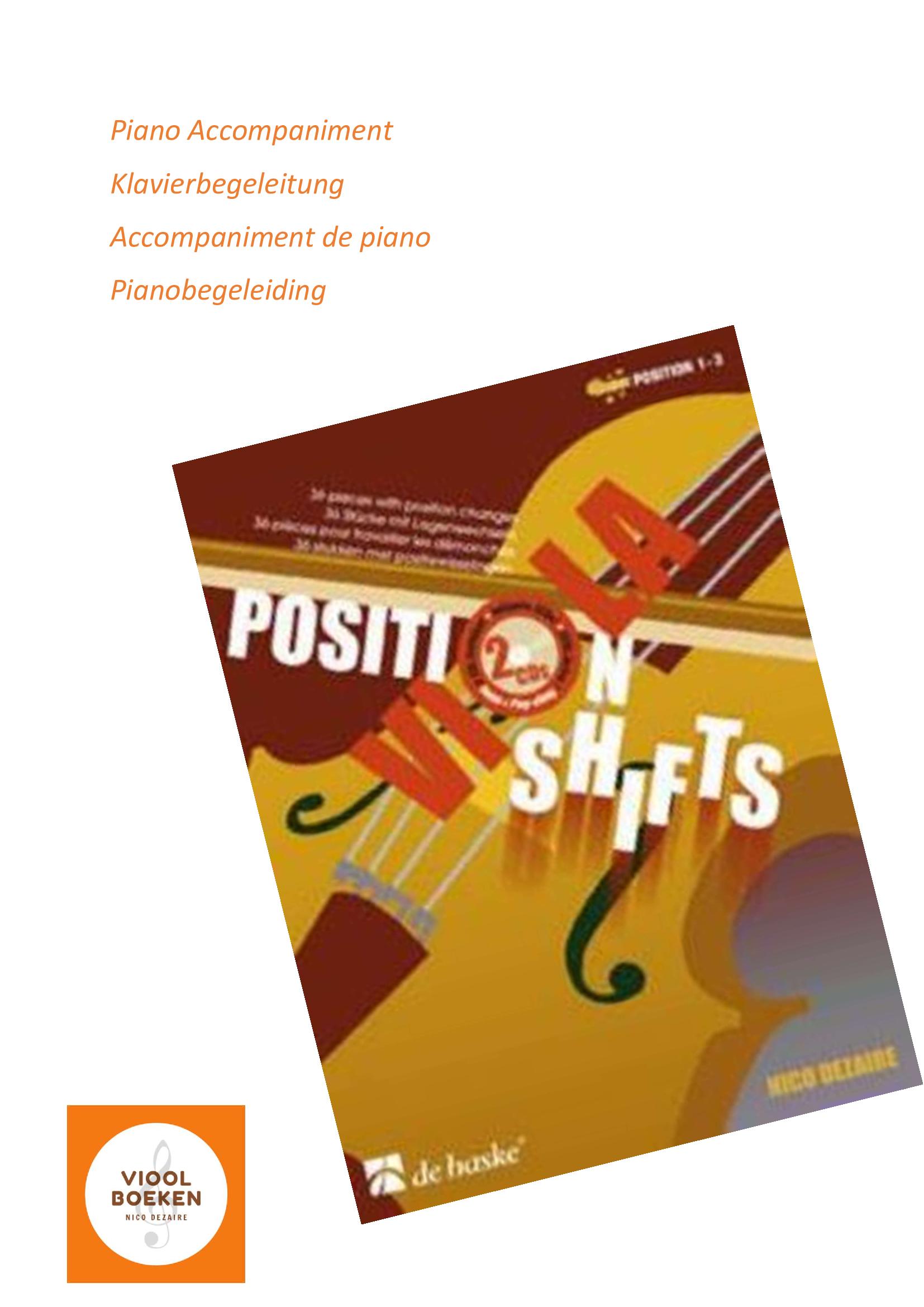 Viola Position Shifts Piano Accompaniment (e-book)