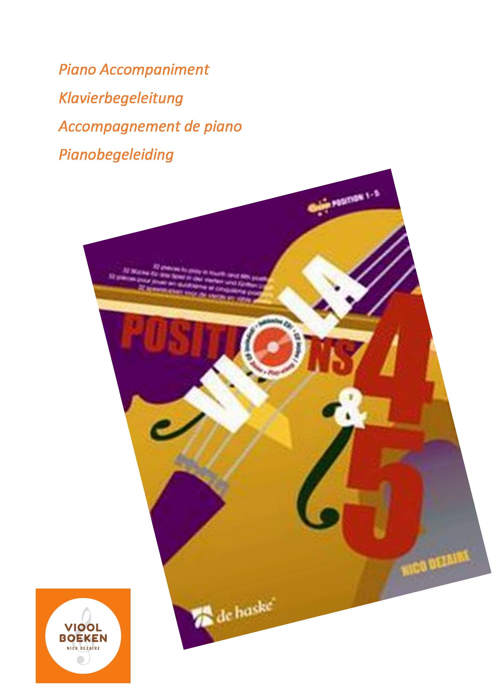 Viola Positions 4 & 5 Piano Accompaniment (e-book)