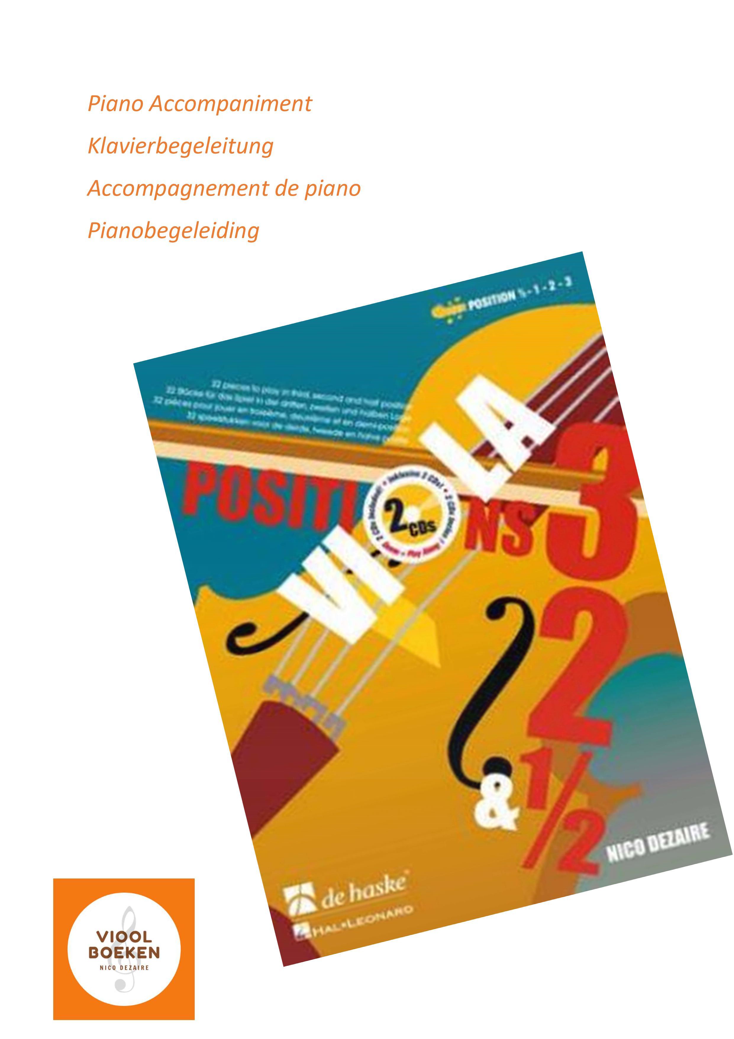Viola Positions 3,2&0,5 Piano Accompaniment (e-book)