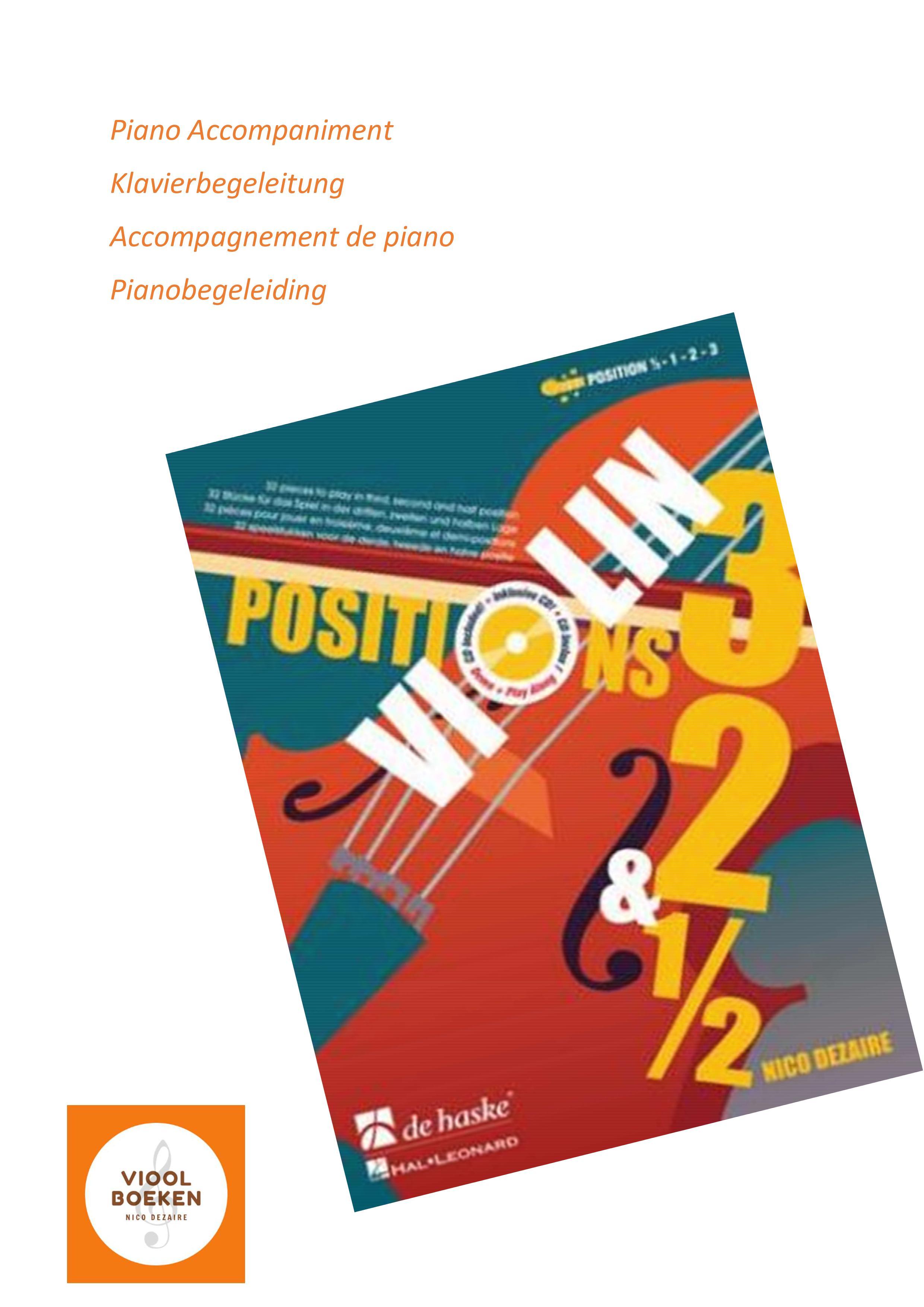 Violin Positions 3,2&0,5 Piano Accompaniment (e-book)